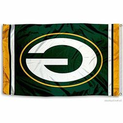 GREEN BAY PACKERS FLAG 3'X5' NFL TEAM LOGO BANNER: FREE SHIP