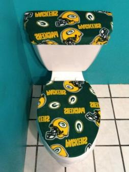 GREEN BAY PACKERS FLEECE TOILET SEAT COVER SET