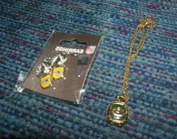 Green Bay Packers NFL Flip Flop Earrings and Necklace Ring S