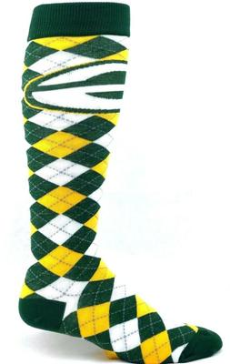 Green Bay Packers Football Green Yellow White Argyle Knee So
