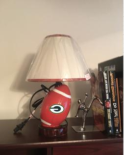 Green Bay Packers Football Shaped Desk Lamp Man Cave Office