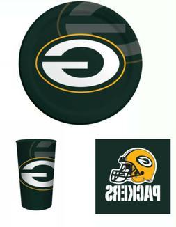 Green Bay Packers NFL Football Tableware Set- Plates,Napkins