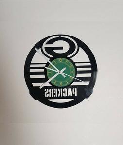 Green Bay Packers Football Vinyl Clock xmas gift, Wall clock