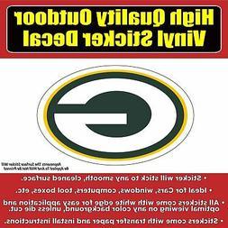 Green Bay Packers G Football Vinyl Car Window Laptop Bumper