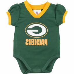 Green Bay Packers NFL Green Kids Girls Bodysuit/Creeper Jers