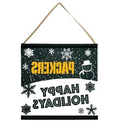 Green Bay Packers Happy Holidays Banner Sign Christmas Wall