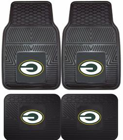 Green Bay Packers Heavy Duty Floor Mats 2 & 4 pc Sets for Ca