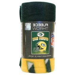 Green Bay Packers Helmet Large Lightweight 50x60 Fleece Thro