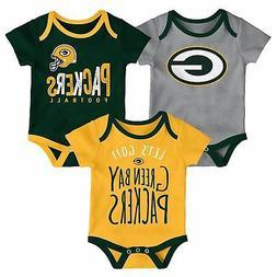 Green Bay Packers Infant Creeper Set NFL Little Tailgater 3-