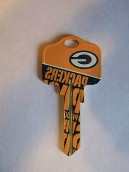 Green Bay Packers  Kwikset KW1/KW10 house key blank