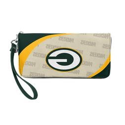 Green Bay Packers Ladies Women's Curved Zipped Wallet Organi