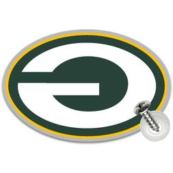 2 Green Bay Packers License Plate Screw Covers Auto Badge NF