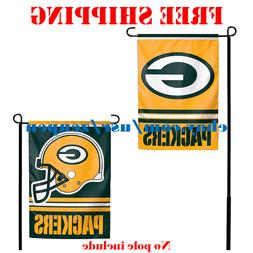 Green Bay Packers Logo Garden Outdoor Flag Double Sides 12x1