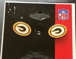 Green Bay Packers Logo Post Stud  Earrings HTF