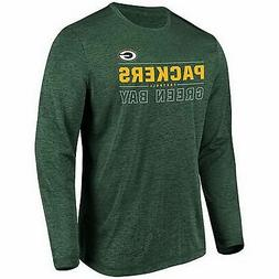 Green Bay Packers Long Sleeve Top Heather Green Many Sizes 1