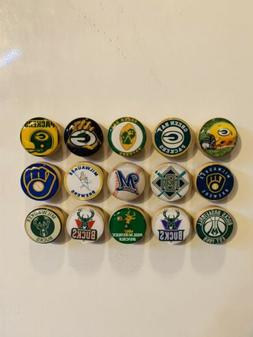 green bay packers magnets milwaukee brewers magnets