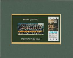 GREEN BAY PACKERS  MATTED SINGLE PHOTO OF SUPER BOWL 1 GAME