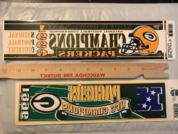 GREEN BAY PACKERS memorabilia NFC CHAMPIONS 1996 - 2 differe