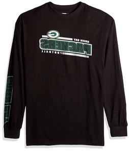 Green Bay Packers NFL Men's Black Long Sleeve Graphic T-Shir