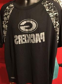 Green Bay Packers Team Apparel Men's  Black  T-Shirt NFL XL