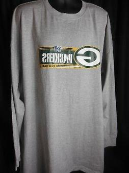 Green Bay Packers Men's Majestic Long Sleeve Tee Shirt /Big