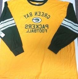 GREEN BAY PACKERS MENS  LONG SLEEVE TEAM NFL SHIRT NEW W TAG