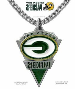 GREEN BAY PACKERS NECKLACE - NFL FOOTBALL SPORTS JEWELRY GIF