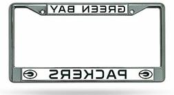 Green Bay Packers New Design Chrome Metal License Plate Fram