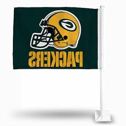 Green Bay Packers NFL 11X14 Window Mount 2-Sided Car Flag