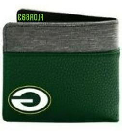 Green Bay Packers NFL Bi-Fold Pebble Wallet