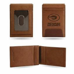 green bay packers nfl brown leather money