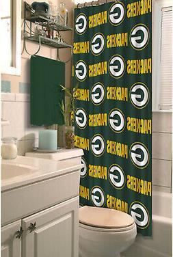 Shower Curtain Green Bay Packers NFL Decorative Football Bat