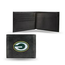 green bay packers nfl embroidered leather billfold
