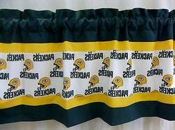 Green Bay Packers NFL Football Custom Valance Curtain Choose