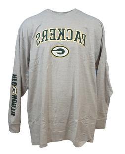 Green Bay Packers NFL Majestic Long Sleeve T-Shirt, Grey Men