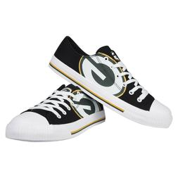 Green Bay Packers NFL Men's Low Top Big Logo Canvas Shoes FR