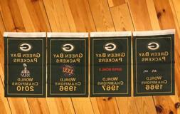 Green Bay Packers NFL Super Bowl Champions 4 Banners/Flags S