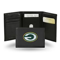 Green Bay Packers NFL Team Logo Embroidered Leather TRIFOLD