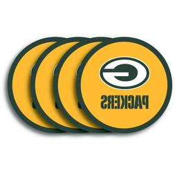Green Bay Packers NFL Vinyl Coasters , FREE SHIPPING
