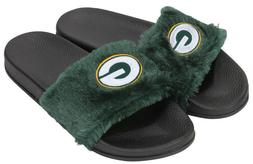 Green Bay Packers NFL Women's Faux Fur with Embroidered G Lo