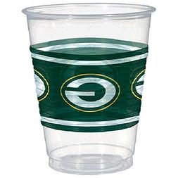 Amscan Green Bay Packers Plastic Cup 16 ounces pack of 25