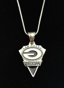 Green Bay Packers Premium NFL Silver Plated Pendant Logo Nec