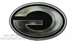 Green Bay Packers Raised Silver Chrome Colored Molded Auto E