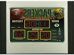 green bay packers scoreboard desk and alarm