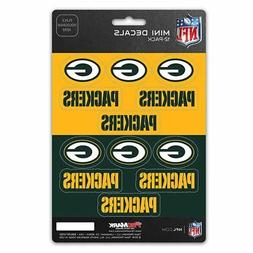 Green Bay Packers Stickers Die Cut Mini Decals 12-Pack Stick