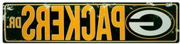 """GREEN BAY PACKERS STREET METAL 24 X 5.5"""" SIGN DRIVE NFL DR R"""