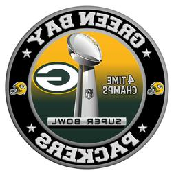 Green Bay Packers Super Bowl Championship Sticker, NFL Decal