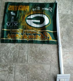 Green Bay Packers SUPER BOWL XLV CHAMPIONS TWO SIDED CAR FLA