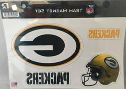 Green Bay Packers Team Magnet Set Licensed Made USA Car Magn