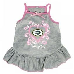 """Green Bay Packers """"Too Cute Squad"""" Pet Dress - Large"""